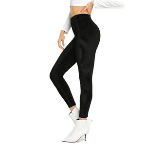 SHEIN Black High Waist Crop Slim Streetwear Leggings