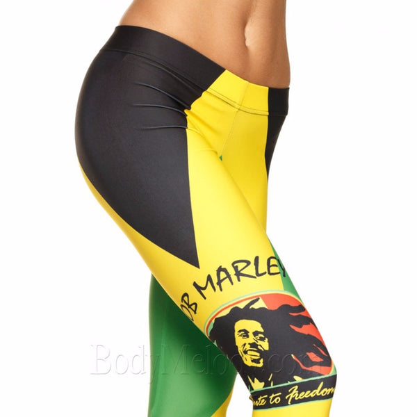 Bob marley Leggings Womens Fashion Print Leggings - legging7