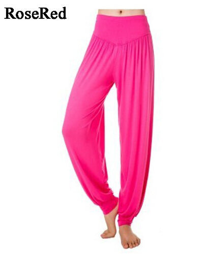 XXL plus size sport women yoga pants Colorful Harem Modal - legging 7