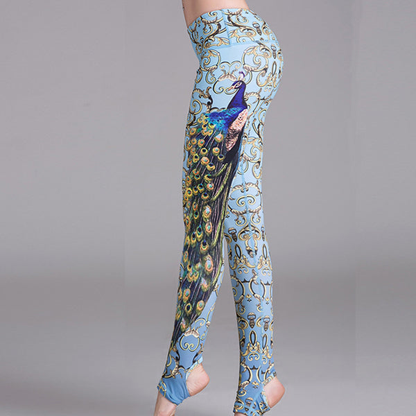 Style Sexy Fitness Leggings Peacock Digital printing - legging 7