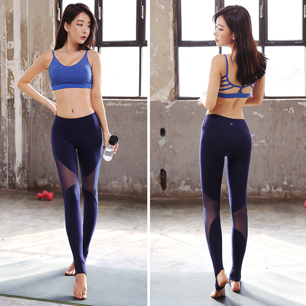 Women Sexy Yoga Fitness Gym Pants Workout Running Leggings - legging 7