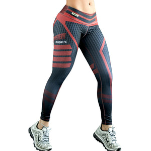 New Fashion Plus Size Brand Sports Leggings Push Up Quick Dry - legging 7