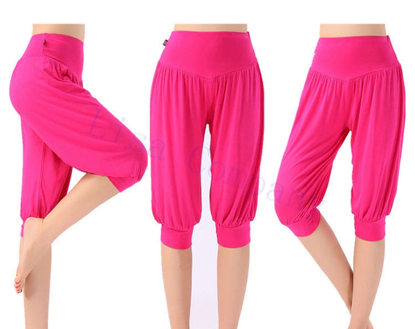 Women Yoga Leggings Colorful Bloomers Dance Yoga TaiChi Half Full Length Pants - legging 7
