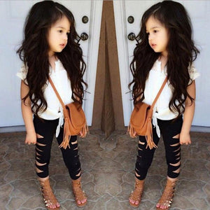 Kids Baby Girls Outfit T-shirt Tops+Long Pants Leggings Clothes 2PCS Set - legging7