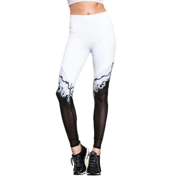 Print Patchwork Sports Yoga Pants Elastic Tights Running Women Leggings - legging7