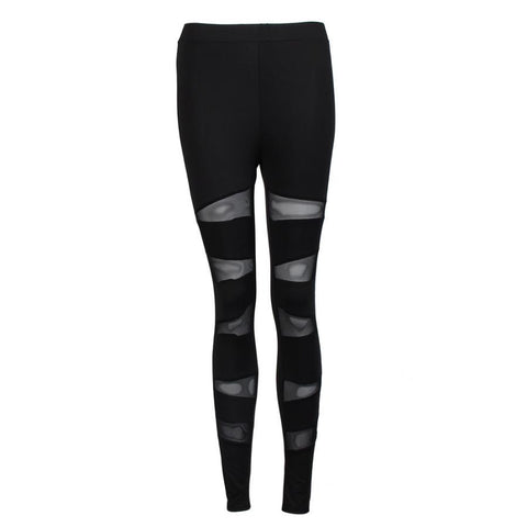 Women's Mesh Panels Stretchy Workout Sports Gym Yoga Leggings - legging 7