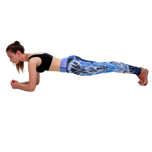 Women Printed Yoga Pants Sport Legging Fitness Gym Pants Workout - legging 7