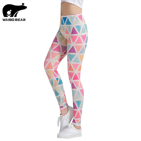 Colorful Triangles Printed Women Leggings - legging7