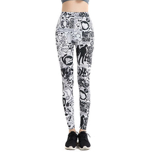 Yoga Pants Athleisure High Waist legging 3D Printed Harajuku Elastic Fitness Leggings - legging 7