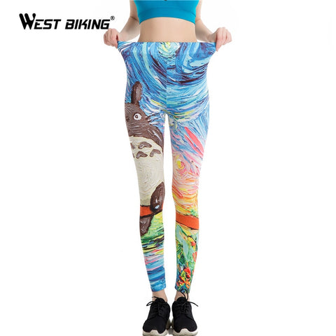 Women Leggings 3D Printed Flower Eye Legins Gradient Leggins