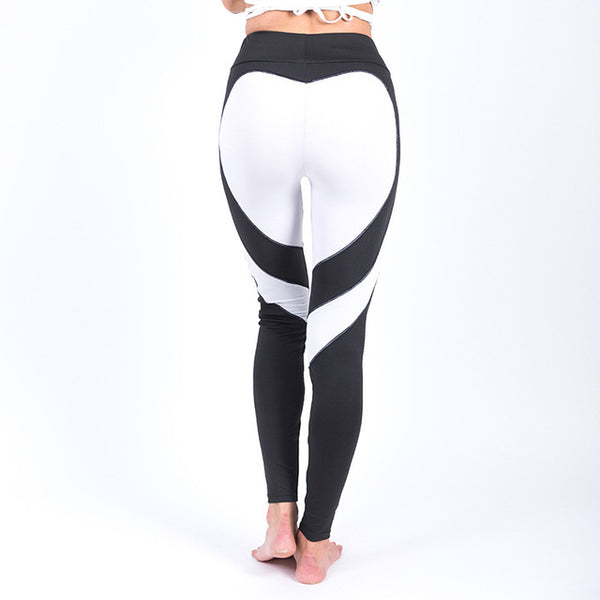 SexeMara Heart Yoga Pants Women Fitness Sexy Hips Push Up Leggings - legging 7