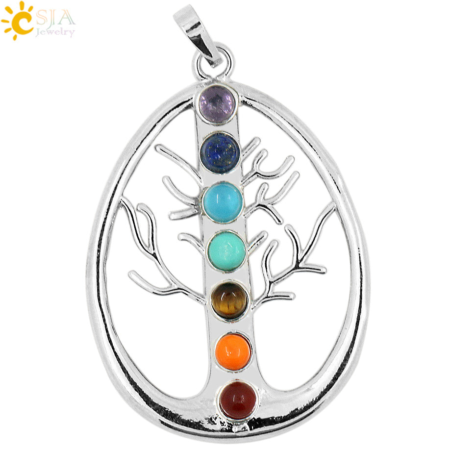 Yoga Symbols Tree of Life Pendant Amulet Necklace Pendants for Women - legging 7
