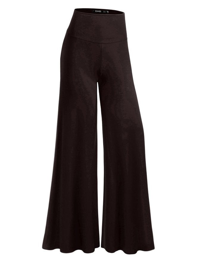 Women's Fashion Casual Loose Trousers Flared Wide Leg High Waist Pants - legging 7