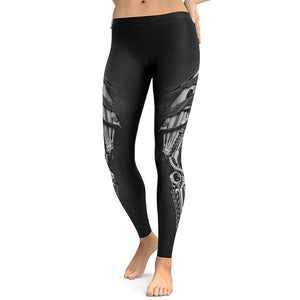 New Style Armor 3D Printing Leggings High Waist - legging7