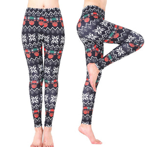 Women Xmas Sports Gym Yoga Running Fitness Leggings Pants Athletic Trouse - legging 7