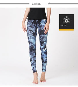 Women Printed Yoga Pants Elastic Stretch Fitness Gym Pants - legging 7