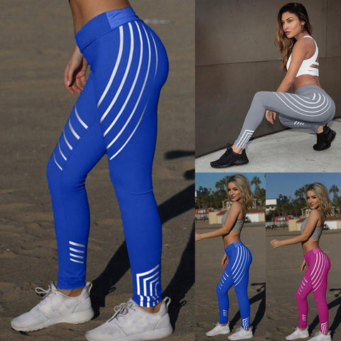 Women Waist Yoga Fitness Leggings Running Gym Stretch Sports Pants Trousers - legging 7
