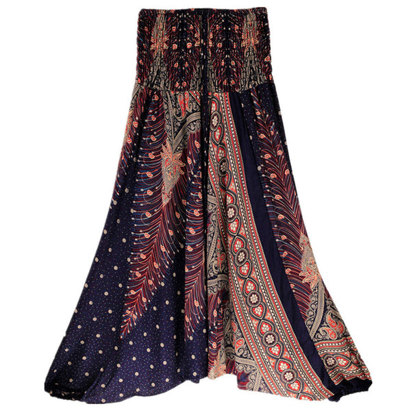 Summer Loose Yoga Trousers Baggy Boho Aladdin Jumpsuit Harem Pants - legging 7