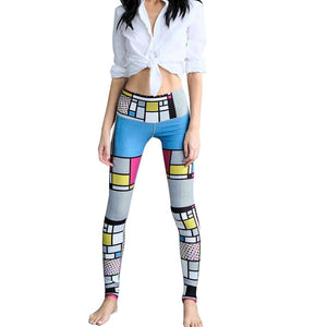 Women's Printed Sports Yoga Workout Gym Fitness Leggings Pants Athletic Clothes - legging 7