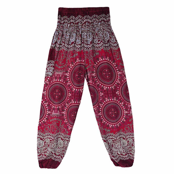 Women Thai Harem Trousers Boho Festival Hippy Smock High Waist Yoga Pants - legging 7