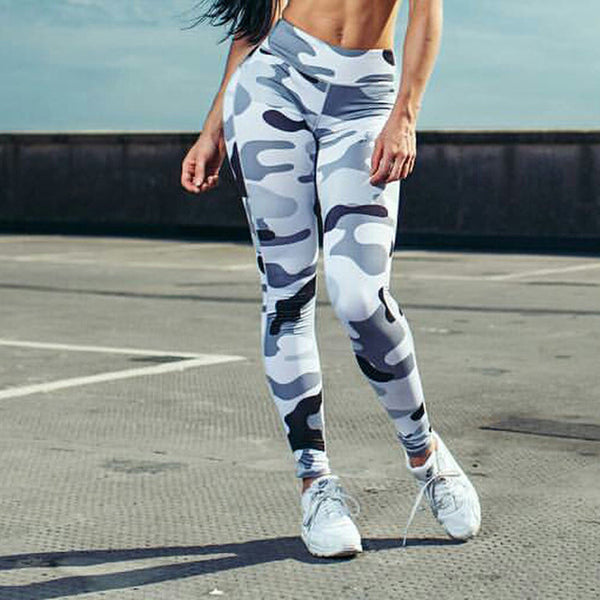 Workout Fitness Camouflage Sporting Leggings Elastic Quick Dry Slim Long Pants - legging 7