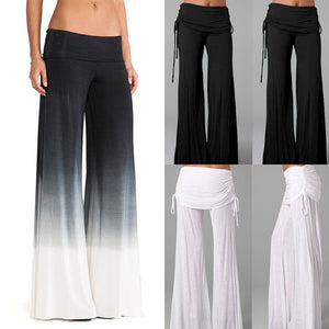 Hot Women's Casual Stretch Pants Wide Leg Long Bohemian Loose Palazzo