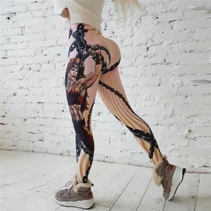 Hot New! Fashion Hero Printed Leggings Women Push Up Fitness Legging Sporting Slim Jeggings - legging7