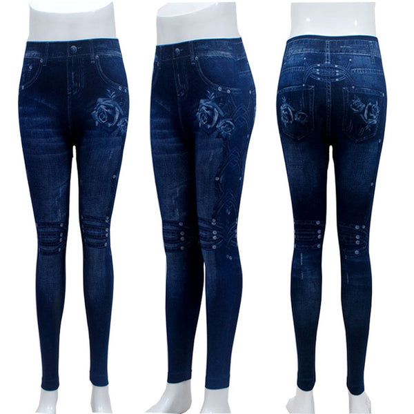 Fashion Slim Sexy Hole Heart Printing Casual Women Clothing Pencil Pants Plus size - legging7
