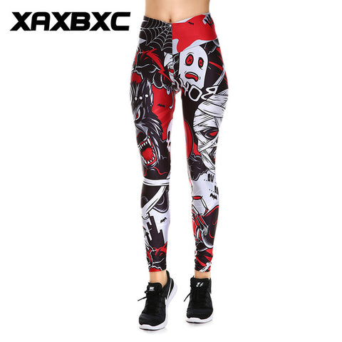 Superhero Captain America Shield Prints V High Waist Elastic Workout Slim Women Leggings - legging 7