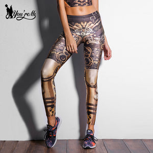 Star Wars legging High Waist Mechanical Gear 3d Print Leggings