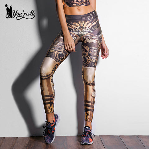 Star Wars legging High Waist Mechanical Gear 3d Print Leggings - legging 7