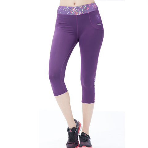 Women Yoga Pants Capri Stretch Workout Leggings with Pockets - legging 7