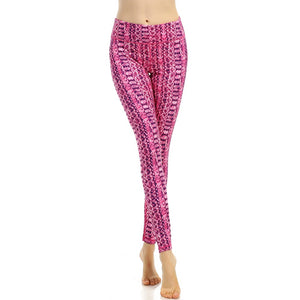 Print High Waist Elastic Yoga Leggings - legging7