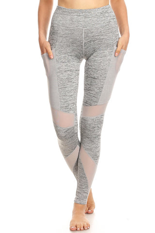 Women's High Waist Yoga Pants with mesh Pockets - legging 7