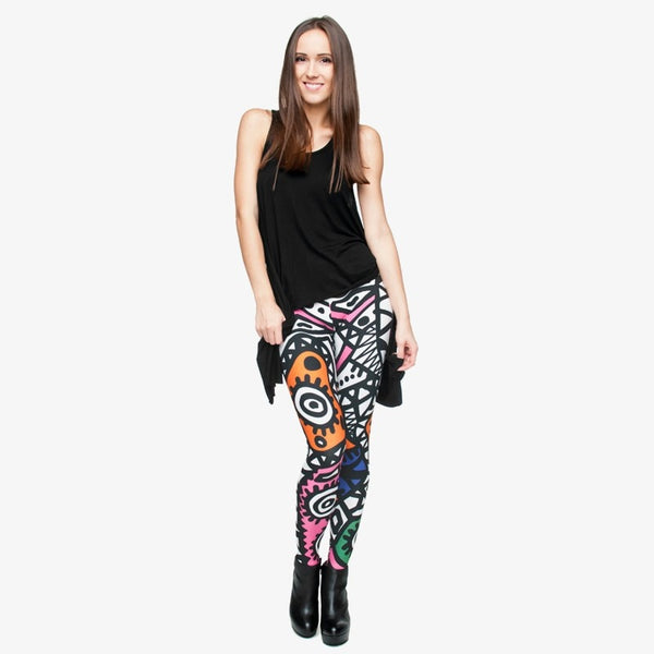 Fashion High Elasticity Legging Tribe Totem 3D Printing