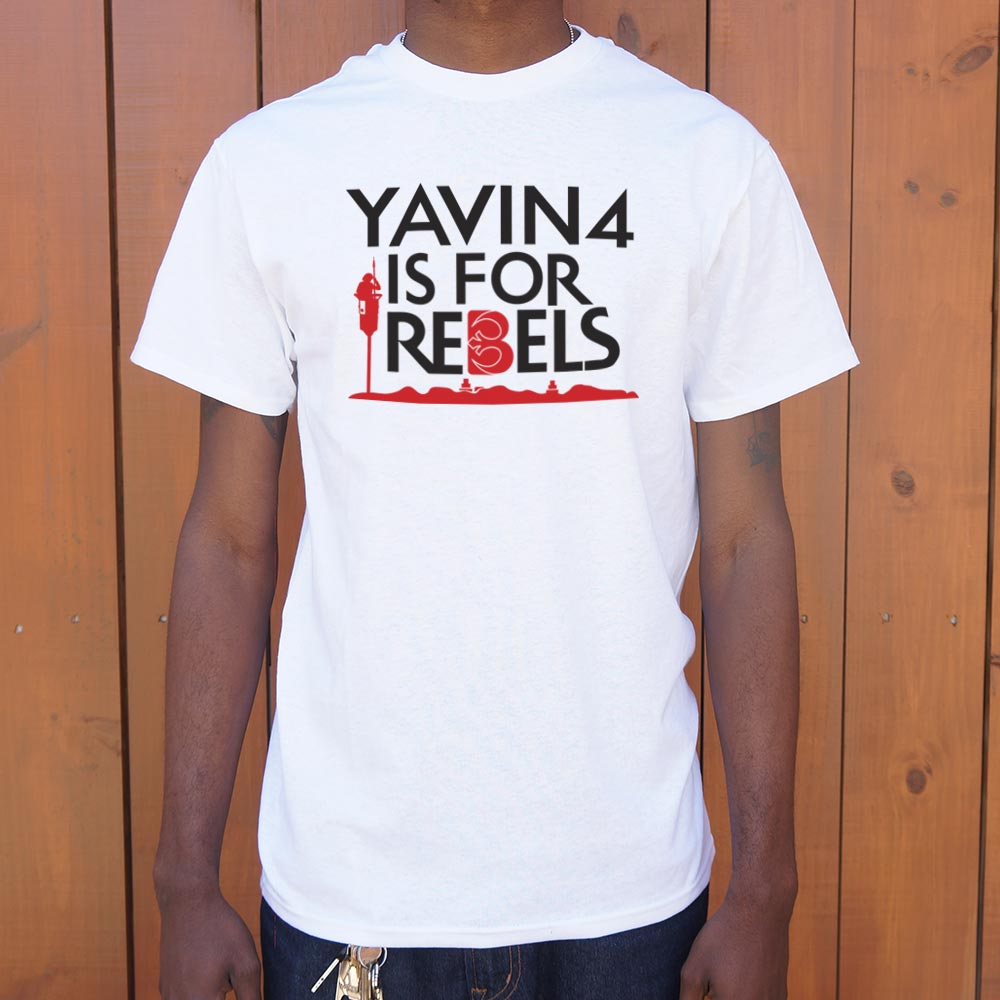 Yavin 4 Is For Rebels T-Shirt (Mens)