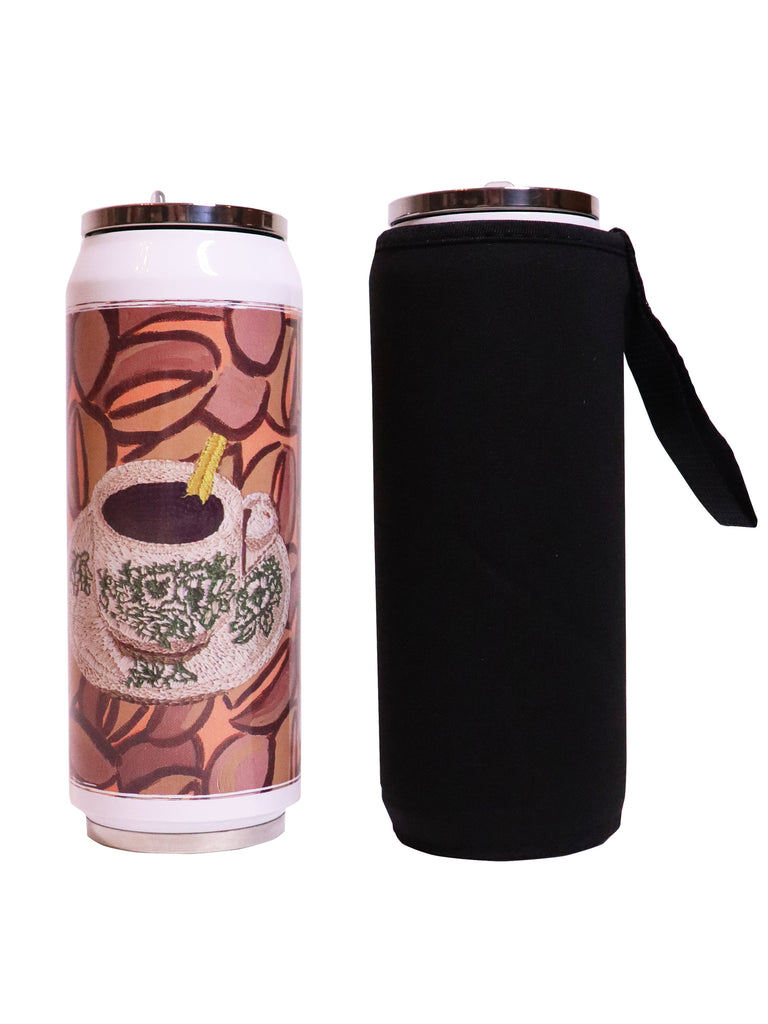 Kopi O ---- 咖啡乌 Folding Straw Vacuum Flask