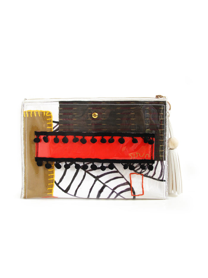 City in Garden Clutch
