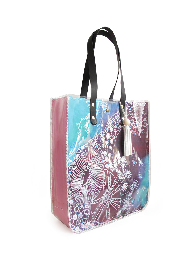 Batik Flowers Large Tote Bag