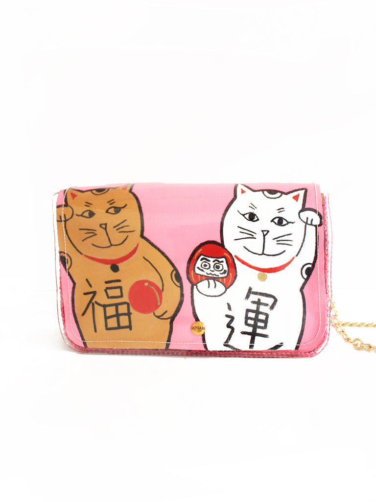 Lucky Cats Crossbody  - Not Pink II