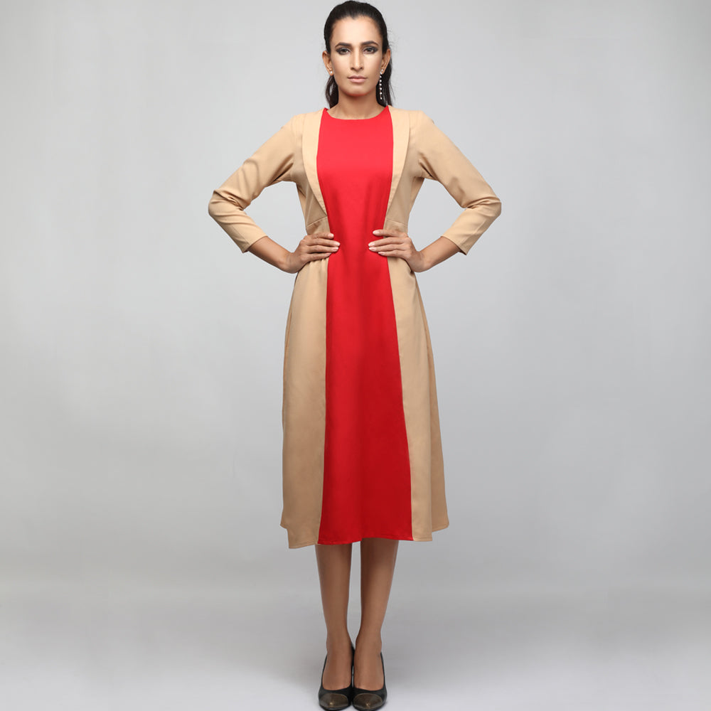 Colour block midi dress - LAST PIECE AVAILABLE!
