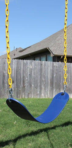 "Swings Seats Heavy Duty 66"" Chain Plastic Coated - Playground Swing Set"