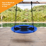 "40"" Saucer Tree Round Swings Multicolor- Adjustable Hanging Ropes, Safe and Sturdy Swings for Children Backyard"