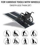 Folding Portable Anti-Slip  Aluminum Wheelchair Ramps & Carrying Handle