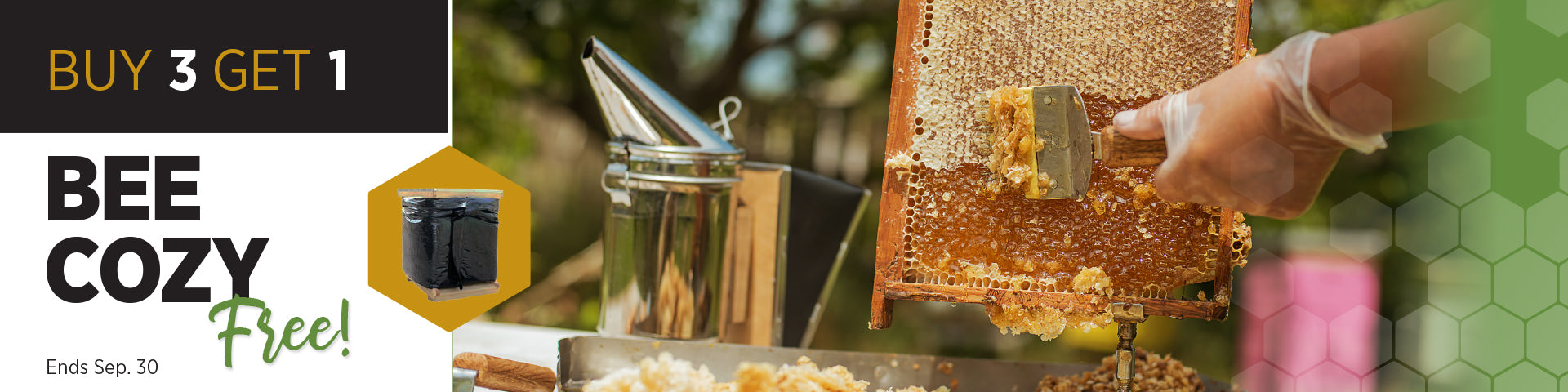 25% off all honey extraction products