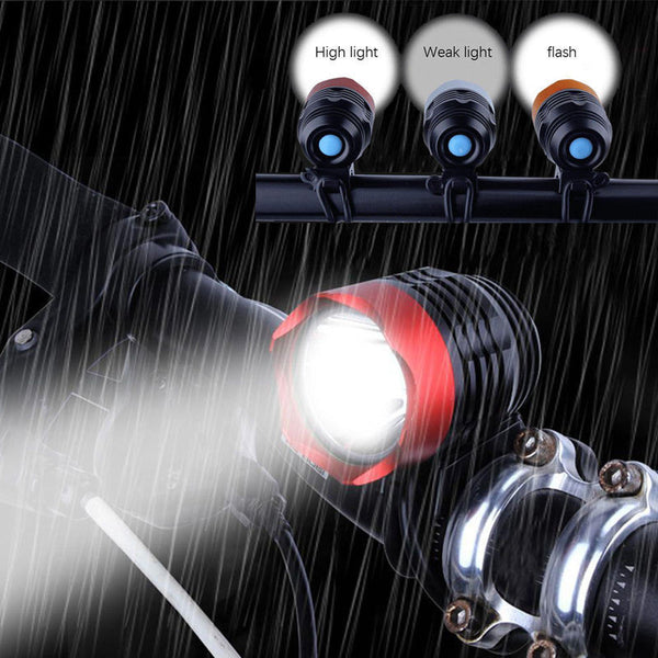 Bike Light 3000 Lumen T6 USB Flashlight for Bicycle LED - Zone Adapter