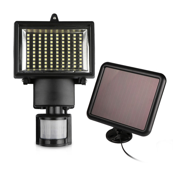 50W 100-LED Modern Solar Garden Lamp with Motion Sensor Waterproof - Zone Adapter