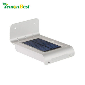 24 LED Motion Sensor Light Waterproof Solar Powered Lamp Wall Mount - Zone Adapter