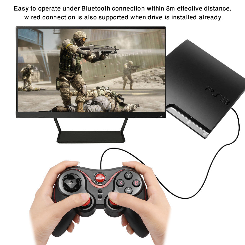 Bluetooth 3.0 Wireless Rechargeable Gamepad Compatible with Android ...