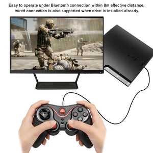 Bluetooth 3.0 Wireless Rechargeable Gamepad Compatible with Android iOS Windows PS3 - Zone Adapter